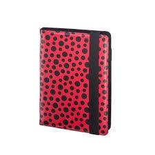 Kalendarz książkowy tygodniowy 8,5X14,5cm czerwony na gumkę 2018