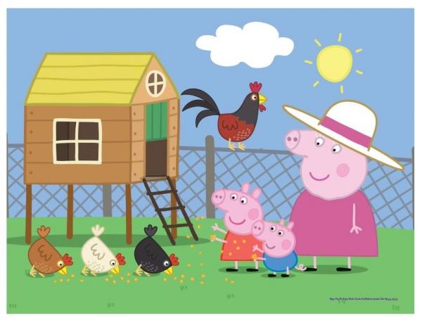 Puzzle 30: Świnka Peppa. Wizyta w kurniku (18195)