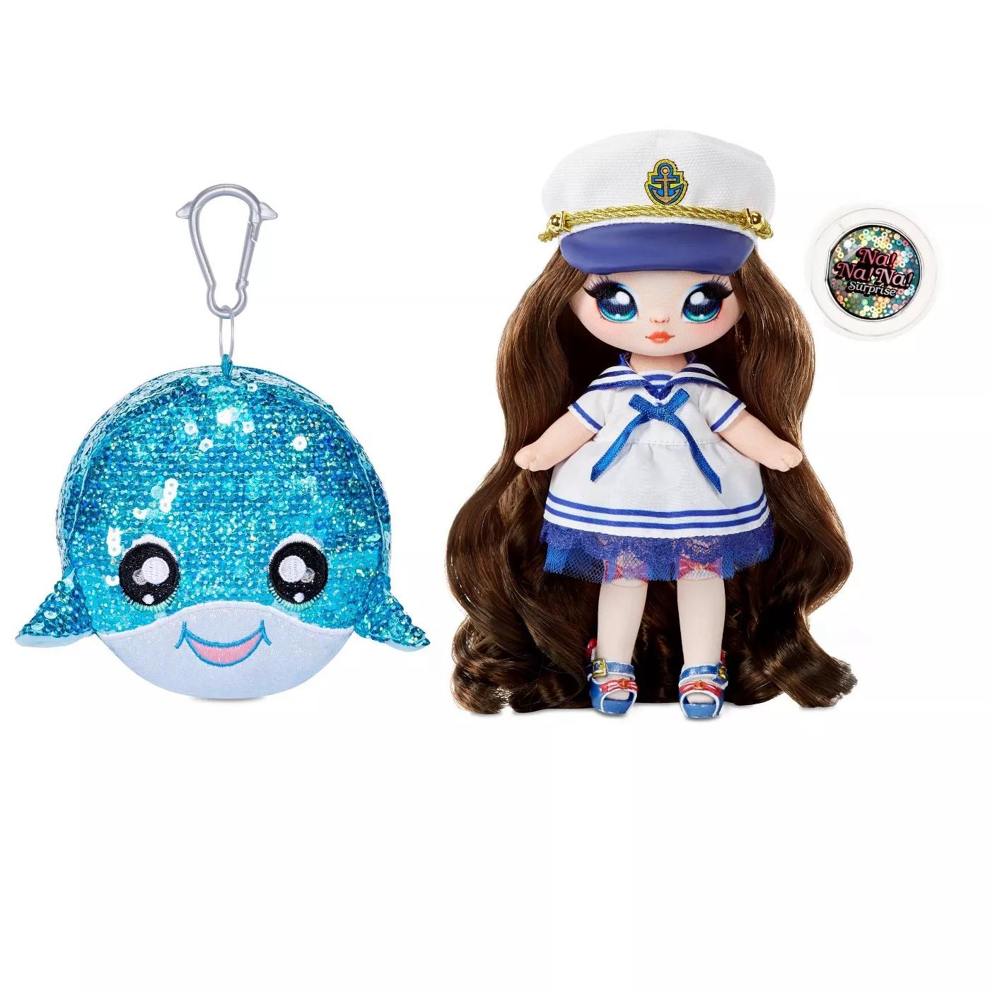 Na! Na! Na! Surprise 2w1: Sparkle Series 1 - Sailor Blu i cekinowa torebka wieloryb (572367EUC/573951)