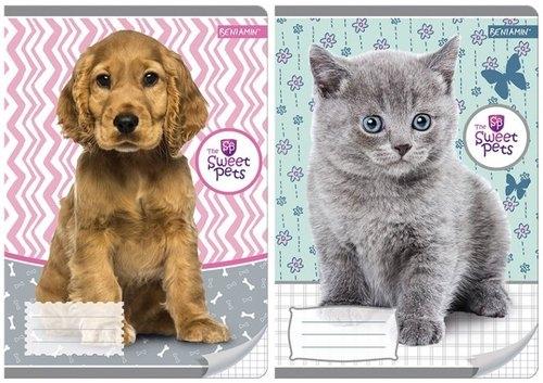 Zeszyt A5 Sweet Pets w kratkę 16 kartek mix