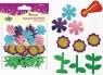 Dodatek dekoracyjny Craft-fun Kształty piankowe samoprzylepne kwiaty liście (EB672)