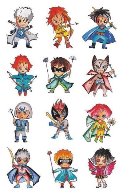 Naklejki metaliczne dla dzieci - Superbohaterowie (56795)