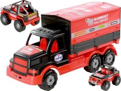 Samochód Polesie Mammoet samochód z plandeką + rally jeep (67951)
