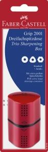 Temperówka Grip 2001 Trio Mix Czerwono/ Niebieska Blister Faber-Castell