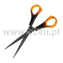 Nożyczki biurowe Titanum bursztynowe 15,5cm (S04002)