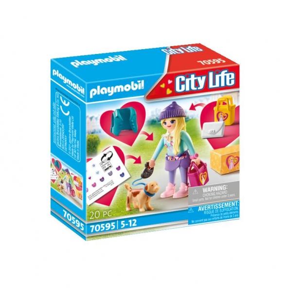Playmobil City Life: Nastolatka z pieskiem (70595)