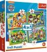 Puzzle 4w1 Wakacyjny Psi Patrol (34395)