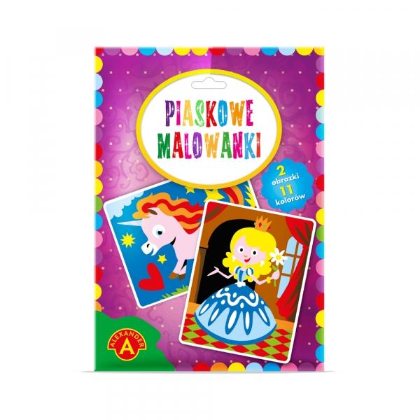 Piaskowe Malowanki - księżniczka, jednorożec (2095)