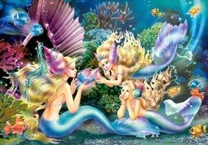 Puzzle 500 Three Mermaids praca zbiorowa
