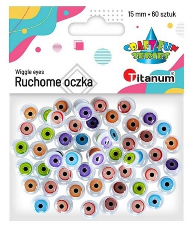 Oczy Animals mix 15mm 60szt