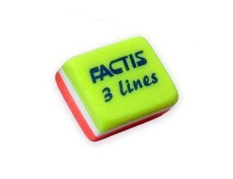 Gumki 3 Lines trójkolorowe FACTIS, 30 sztuk