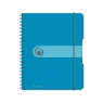 Brulion na spirali easy.orga A5/80k kratka - niebieski (11293800)