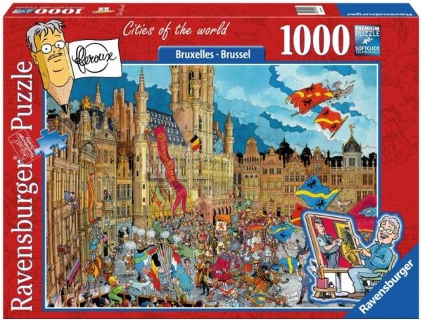 Puzzle 1000 elementów - Bruksela (198955)