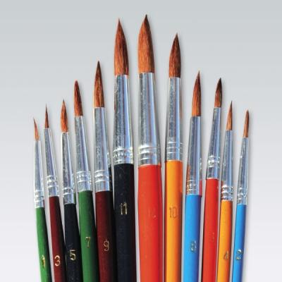 Pędzle Titanum do farb akwarelowych (252)