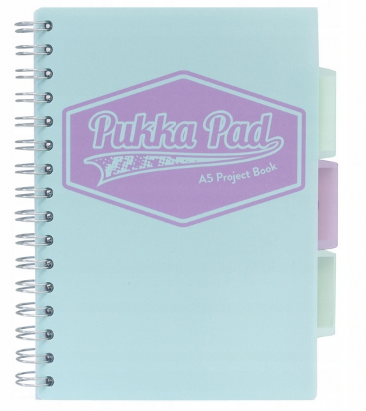 Kołozeszyt Pukka Pad A5 Project Book, 100 kartkowy, kratka, morski(8631S(TL)-PST)