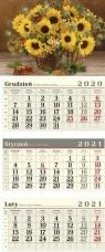 Kalendarz 2021 Trójdzielny Słoneczniki CRUX