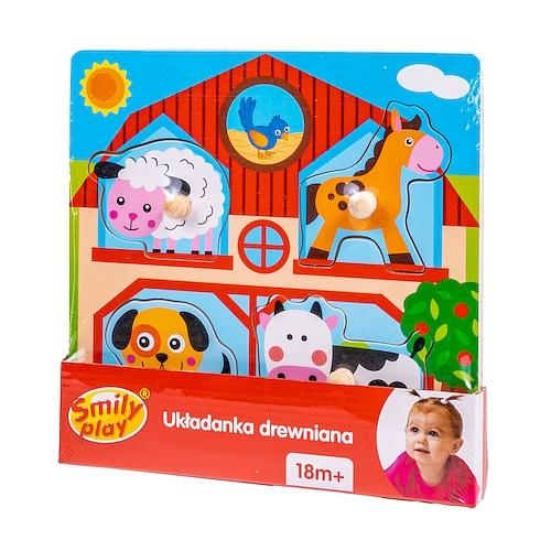 Smily Play, Układanka drewniana Farma (SPW83607) 0