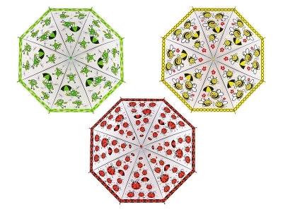 Parasol Adar automatyczny biedronka, pszczoła i żabka (490093)