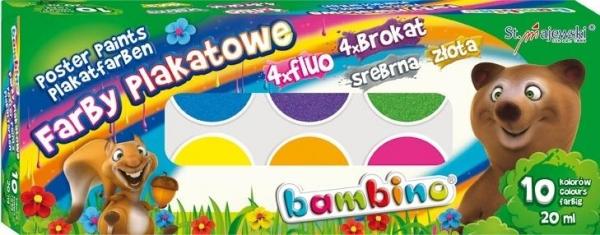 Farby Plakatowe Bambino 10 Kolorow St Majewski Ksiegarnia