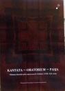 Kantata-oratorium-pasja