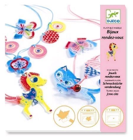 Zestaw artystyczny - Magic plastic Biżuteria kotek