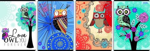 Zeszyt A5 Top-2000 w linie 60 kartek Owl you forever 10 sztuk mix