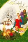 Karnet srebrny B6 Boże Narodzenie religia i świecki mix