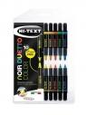 Pisaki Noir Duetto color 10+1 Fluo FIBRACOLOR