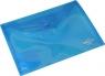 Teczka kopertowa A5 niebieska transparentna