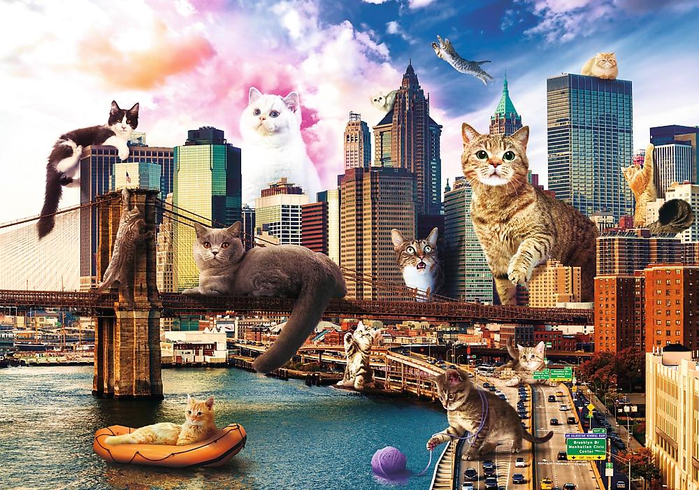 Puzzle 1000: Funny Cities, Koty w Nowym Jorku (10595)