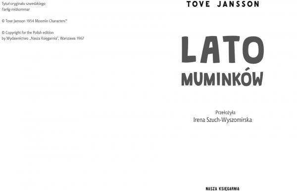 Lato Muminków Jansson Tove