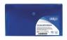 Teczka kopertowa DL PP pozioma niebieska (SF014)