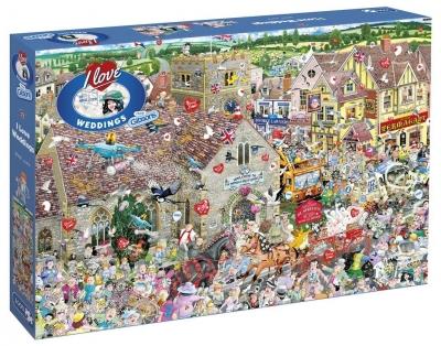 Puzzle 1000 Kocham śluby i wesela G3