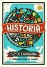 Historia Mapy do kolorowania Z kredkami dookoła świata