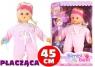 Płacząca lalka bobas w różowym uubranku + smoczek