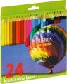 Kredki ołówkowe sześciokątne 24 kolory