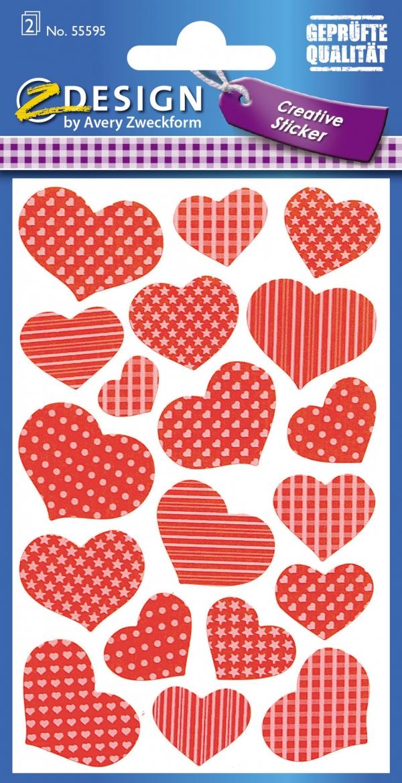 Naklejki neonowe - serce (55595)