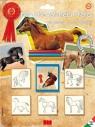 Pieczątki 5 sztuk Konie