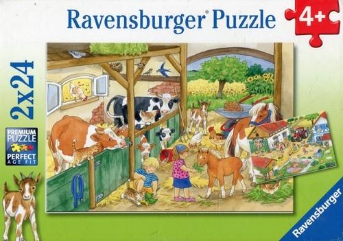 Puzzle 2x24 Wesołe życie na wsi