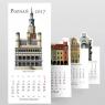 Kalendarz 2017 Poznań Zabytki harmonijka