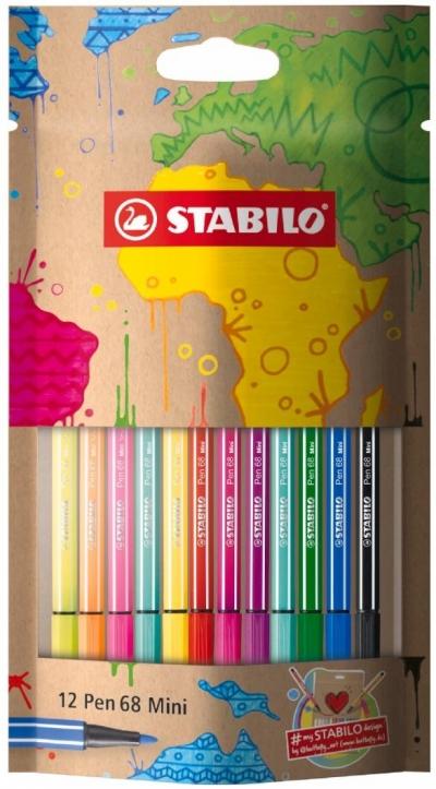 Flamastry Pen 68 Mini mySTABILOdesign 12 kolorów