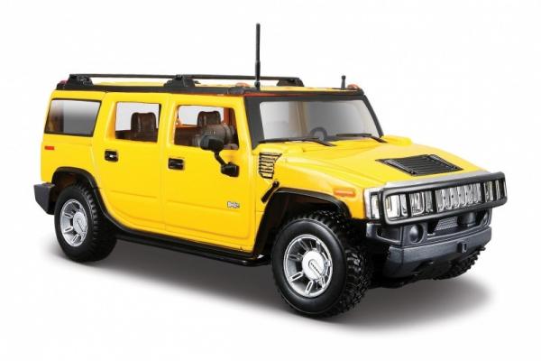 Hummer H2 SUV 2003 1/27 Żółty (10131231/2)