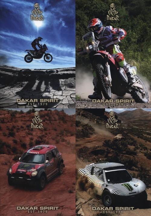 Zeszyt A4 Dakar w kratkę 54 kartki 10 sztuk mix