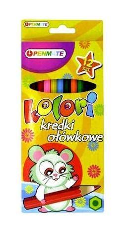 Kredki ołówkowe Kolori 12 kolorów PENMATE