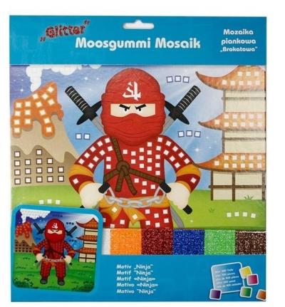 Mozaika piankowa brokatowa Ninja