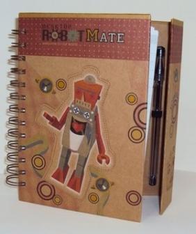 Kołonotatnik ROBOT brązowy