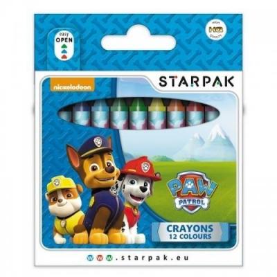 Kredki woskowe Psi Patrol, 12 kolorów (352905)