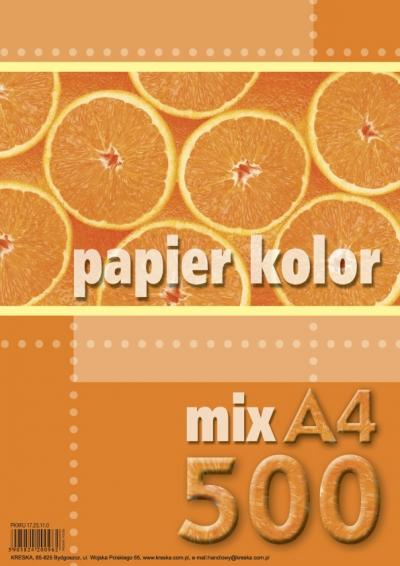 Papier kolorowy A4 500k mix kolorów