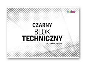 Blok techniczny A4/10k 190g czarny (SPA021)