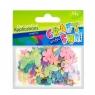 Cekiny pastelowe motyle i kwiaty
